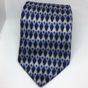 Croft and Barrow Silk Blue and Silver Tie